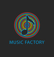 Music colorful logo template design note icon vector image vector image