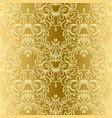 oriental gold damask seamless pattern vector image