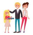 parents day poster depicting happy family vector image vector image
