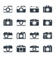 photo camera icon set for web sites and user vector image