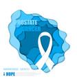 prostate cancer background vector image