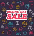 sale card boxing day promotion vector image