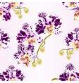 seamless texture branches orchids spotted vector image vector image