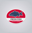stamp fresh fish vector image vector image
