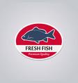 stamp fresh fish vector image