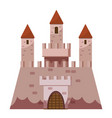 stronghold castle icon cartoon style vector image vector image