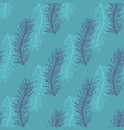stylized branch seamless background vector image vector image