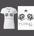 t-shirt design with floral elements vector image vector image