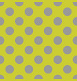 tile pattern with big grey polka dots on green vector image