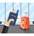 Travel business trip concept vector image