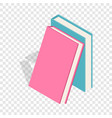 two books isometric icon vector image vector image