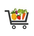 vegetable market vector image vector image