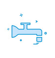 water tap icon design vector image vector image
