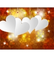 White heart on a celebratory background Postcard vector image vector image