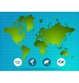 World Map Page Of Website vector image vector image