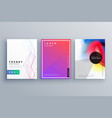 minimal brochure set made with lines and fluid vector image