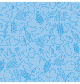 blue background with communion icons vector image