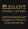 elegant golden letters shiny gold alphabet vector image