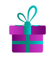 isolated party present vector image