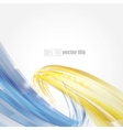 Abstract bright blue and gold background vector image vector image