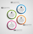 Abstract options infographics template vector image vector image