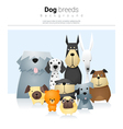 Animal background with dogs 2 vector image vector image