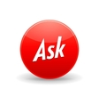 Ask toolbar icon in simple style vector image vector image