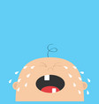 bacrying tears kid face looking up cute vector image