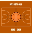 Basketball court the plan field Sports ball flat vector image vector image