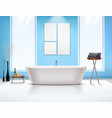 bathroom interior composition vector image vector image