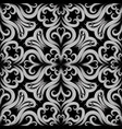 beautiful floral black and white seamless vector image vector image