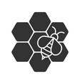 beekeeping glyph icon