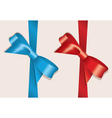 bow and ribbon vector image vector image