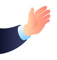 businessman hand icon isometric style vector image