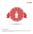 candle icon - red ribbon banner vector image