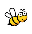 cartoon bee logo icon in flat style wasp insect vector image