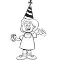 Cartoon Girl at Party vector image