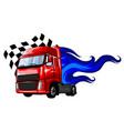 cartoon semi truck format separated vector image