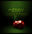 christmas background with shiny red volumetric vector image vector image