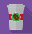 coffe flat icon design vector image vector image