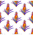 colorful pineapple seamless pattern vector image