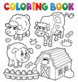 coloring book with farm animals 6 vector image vector image
