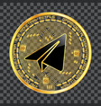 crypto currency gram golden symbol vector image vector image