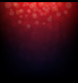 dark red bokeh vector image vector image