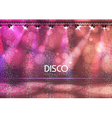 Disco ball abstract background vector image vector image