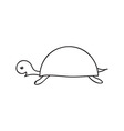 Doodle turtle animal icon vector image vector image