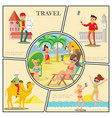 flat travel composition vector image vector image