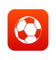 football ball icon digital red vector image vector image