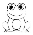 frog cute animal sitting cartoon vector image vector image