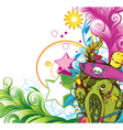 funny monsters background vector image vector image